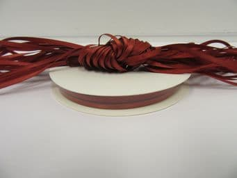 Rust Brown Satin ribbon Double sided 3mm 7mm 10mm 15mm 25mm 38mm 50mm Roll Bow
